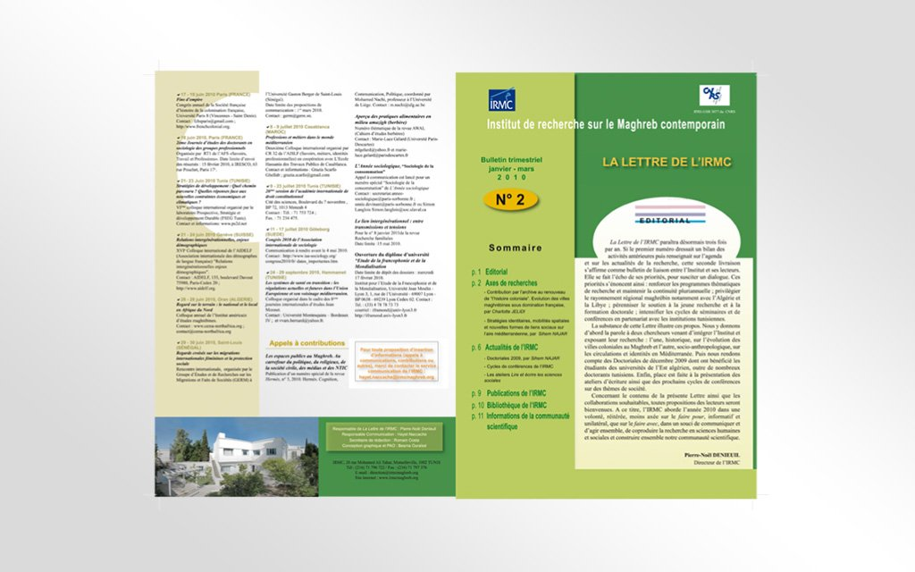 Impression brochure Lettre IRMC