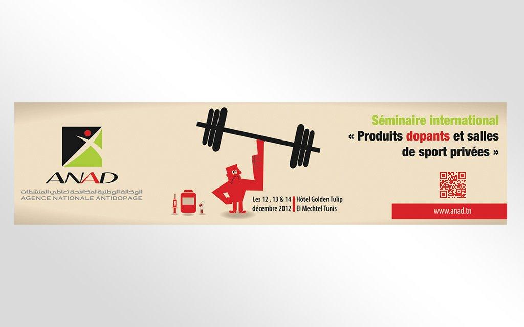 Banderole « salle de sport sans dopage »
