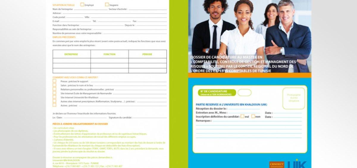 Dépliant et Dossier de candidature