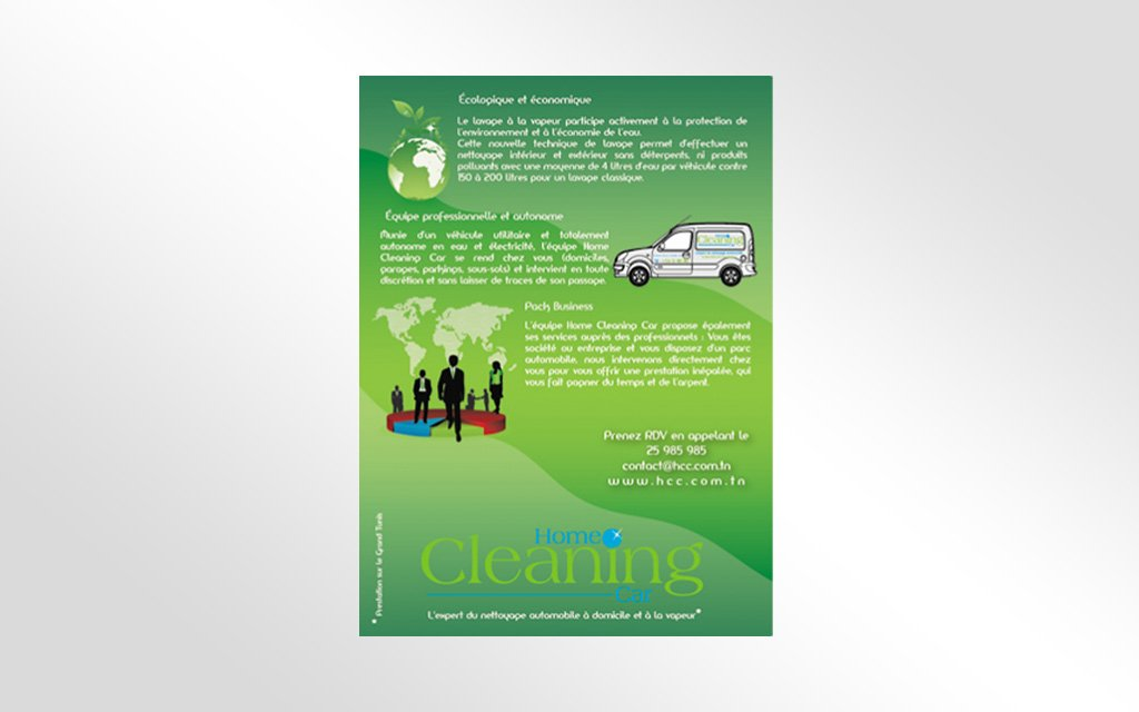 Flyer Home Cleaning Car