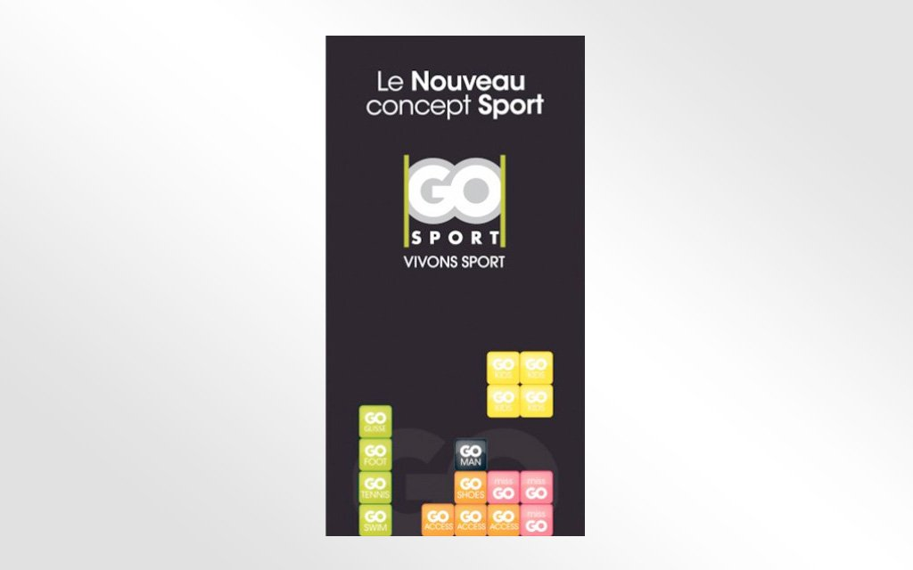 Habillage magasin Go Sport Le Claridge