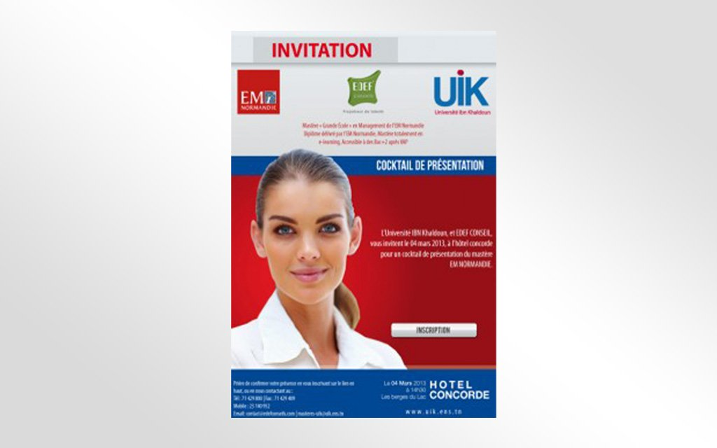 Invitation Master EM Normandie