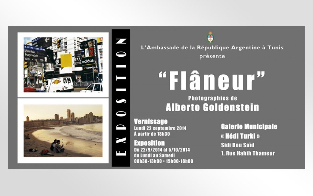 Invitation vernissage Ambassade d'Argentine