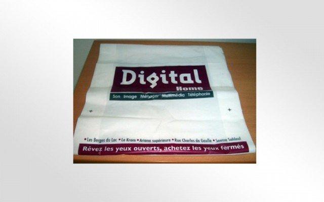 Sacs en plastique pour Digital Home
