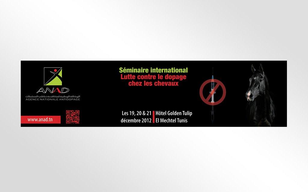 Banderole « anti dopage des chevaux »