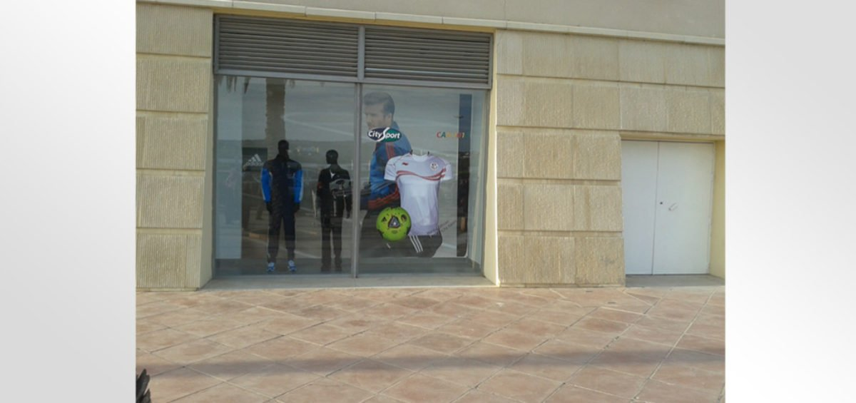 Habillage vitrine et magasin City Sport
