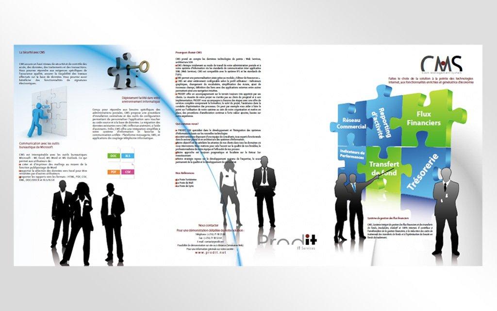 Conception stand et dépliant Technopost Africa 2010