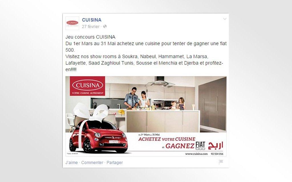 Campagne Facebook Ads Cuisina