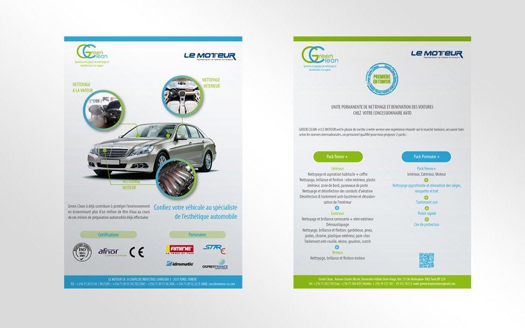 Flyer Le Moteur Maison mercedes et FIAT