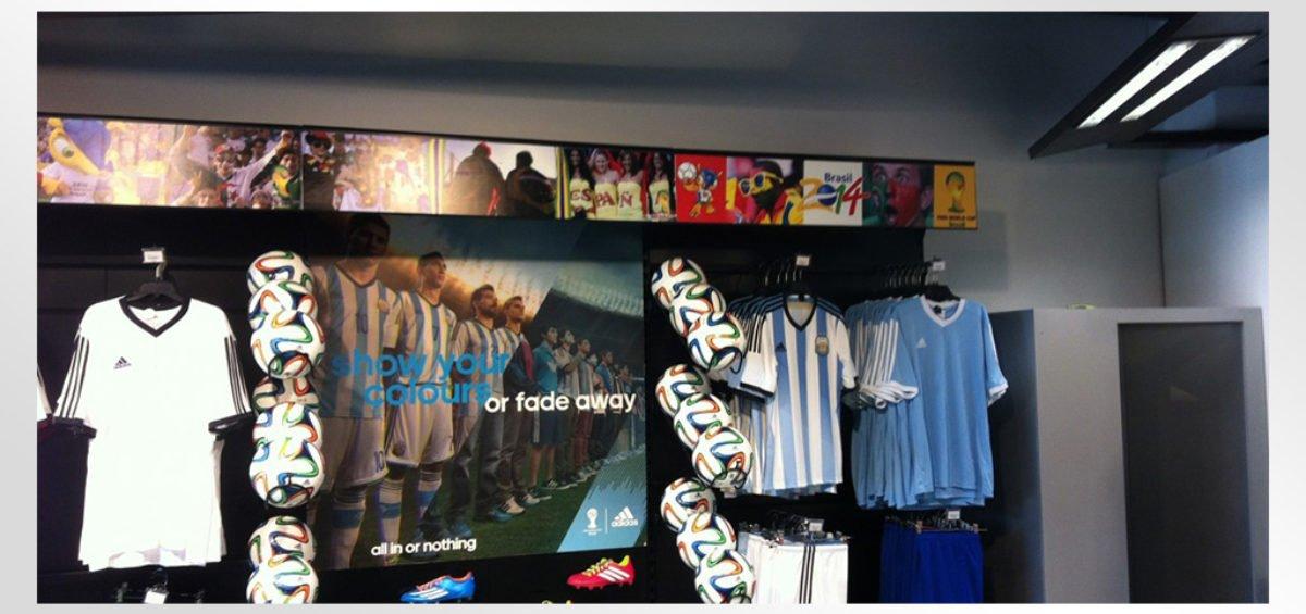 Habillage magasin Go Sport La Marsa : Opération Coupe du monde 2014