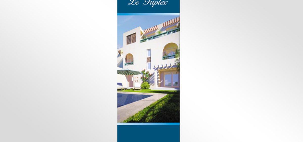 Habillage stand immobilière la paix tunis