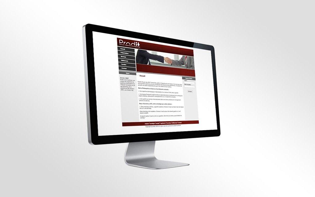 Conception Site web prodit