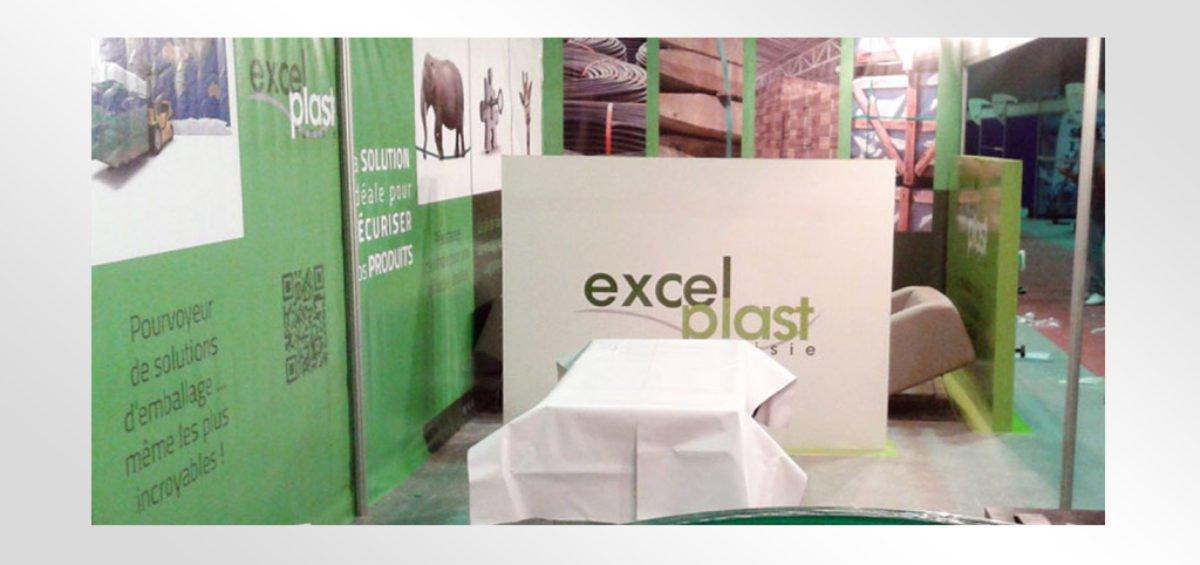 Habillage stand Excel Plast
