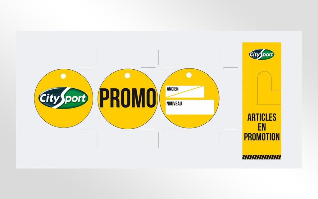 étiquettes promo city sport