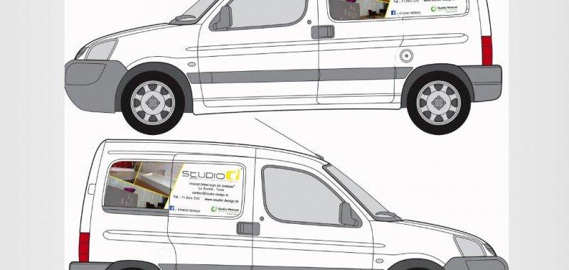 Habillage véhicule Studio design