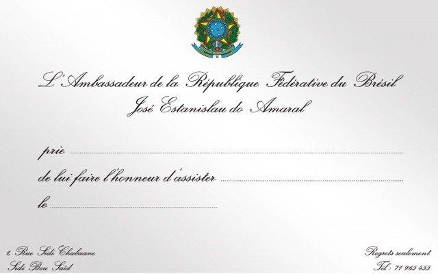 Invitation Ambassade du Brésil 2015
