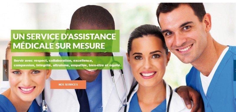 Conception Site web Jasmin médical assistance