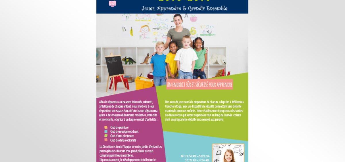 Flyer rentrée scolaire Les Petits Genies
