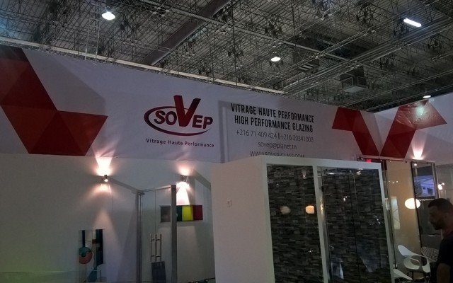 Habillage stand SOVEP