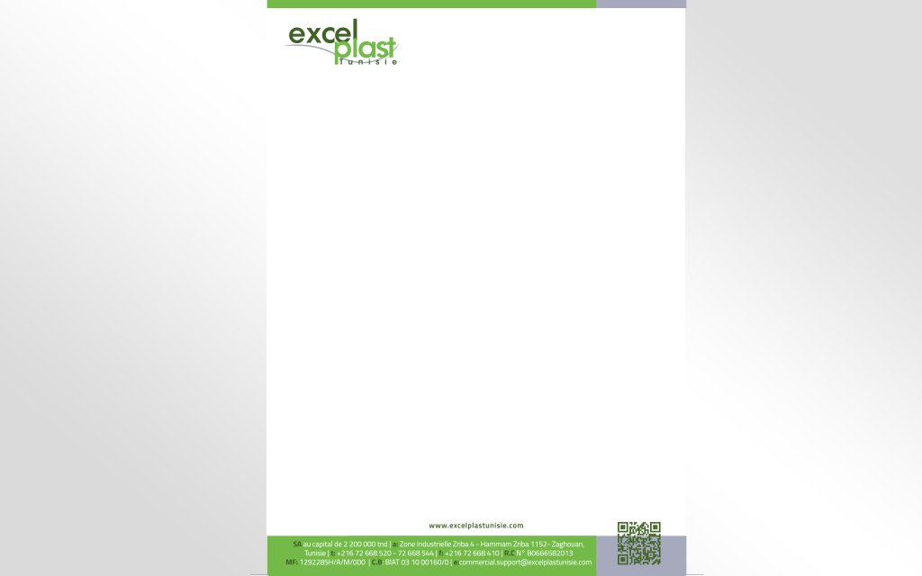 Papier a entête ExcelPlast Tunisie