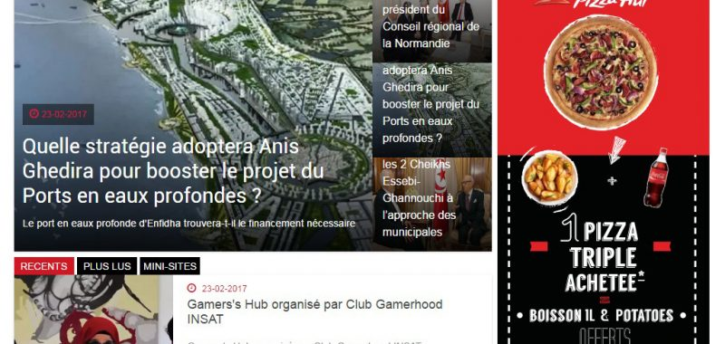 sponsored Ads pizza hut sur shems.fm