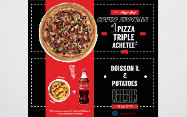 Emailing Pizza Hut campagne Carry out