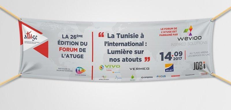 Banderole Forum de L'ATUGE 270cm x 80cm