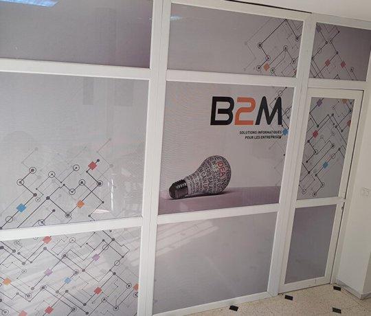 Habillage bureaux B2M en micro perforé
