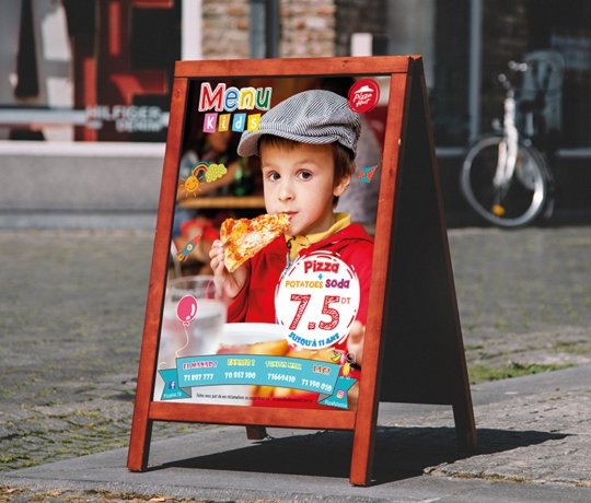 Chevalet Menu kids Pizza Hut