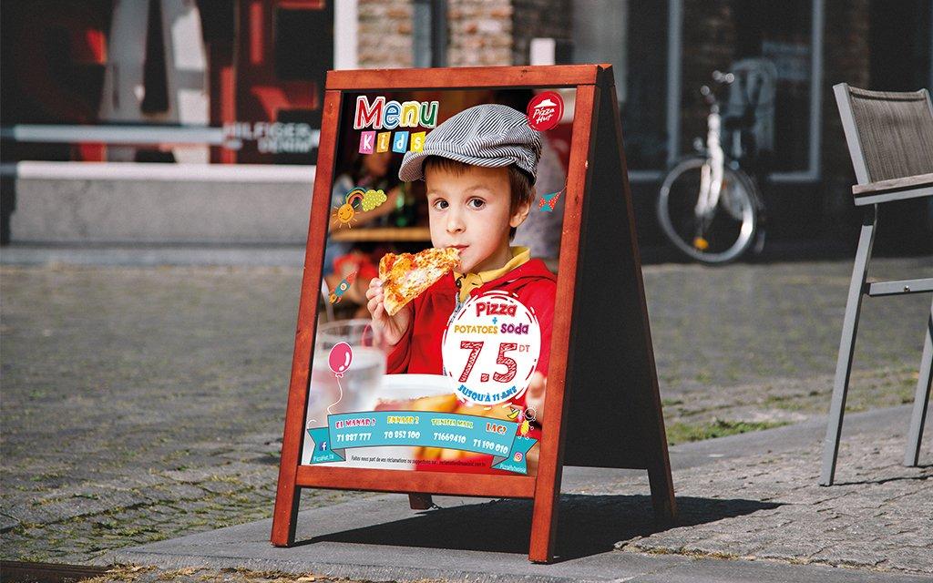 Chevalet Menu kids Pizza Hut