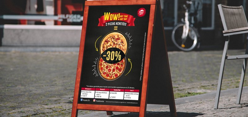 Chevalet Wow Deal Pizza Hut