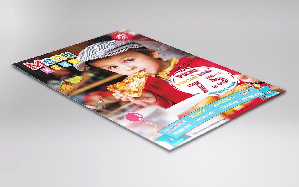 Flyer menu kids Pizza Hut