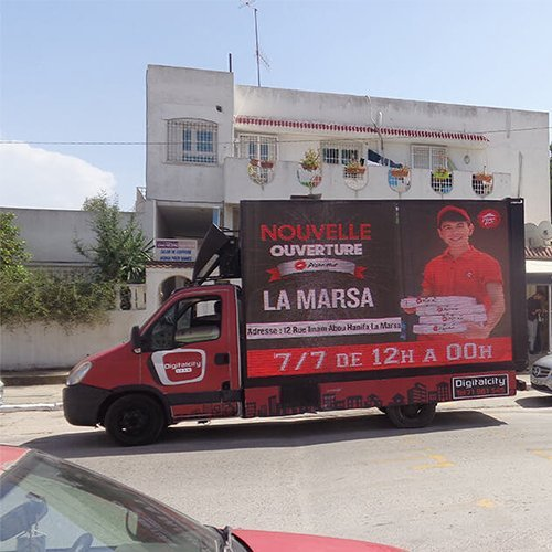 Campagne d'affichage Camion Mobile