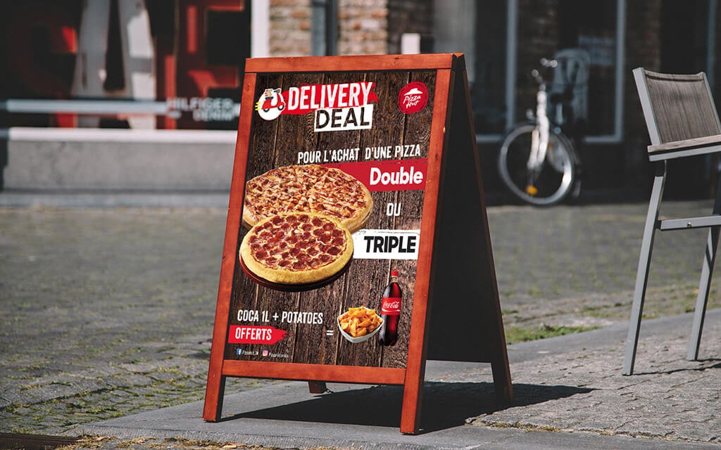 Chevalet delivery Deal Pizza Hut