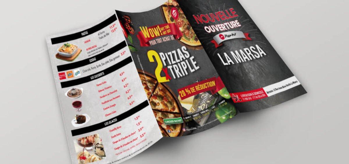 Dépliant Pizza Hut La Marsa