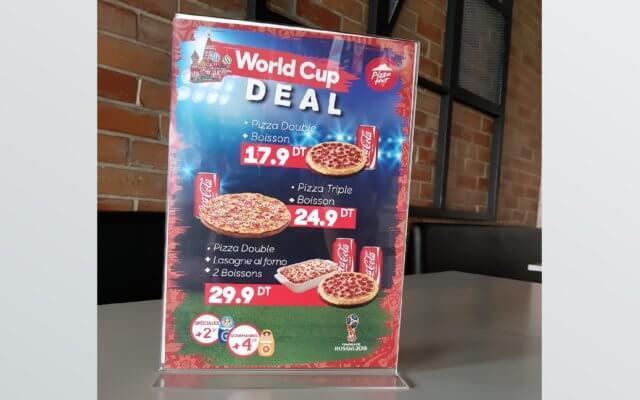 Affiche plexiglas pour Pizza Hut