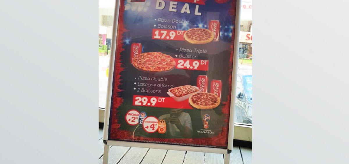 Conception et Impression affiche Pizza Hut