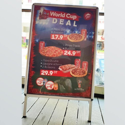 Chevalet Aluminium World Cup deal Pizza Hut