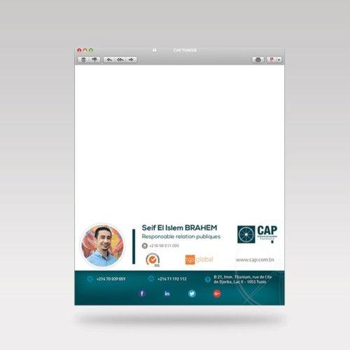 Conception signature d'email pour CAS et CAP