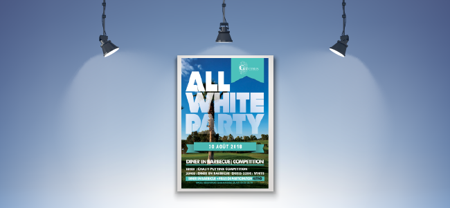 Conception affiche All White Party pour Golf Citrus