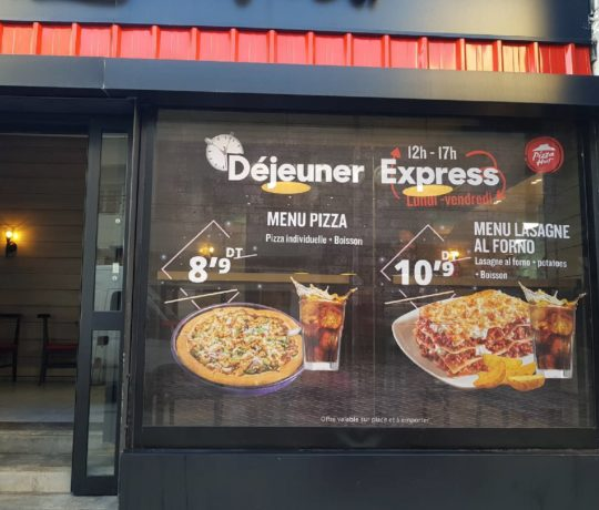 Habillage restaurants Pizza Hut Tunisie
