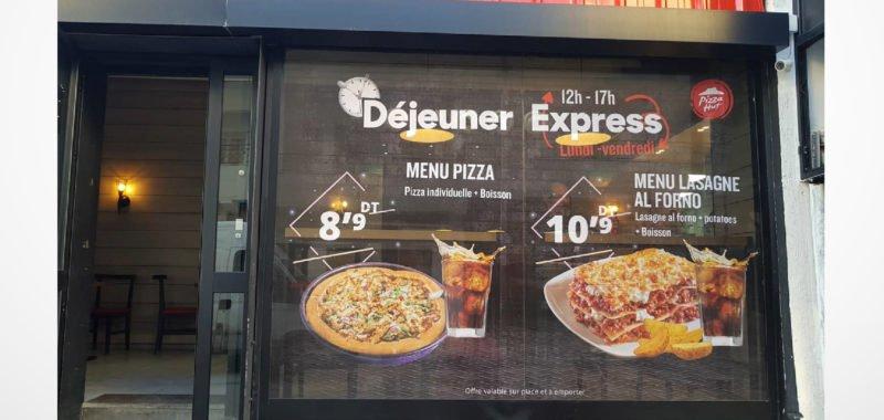 Habillage restaurants Pizza Hut Tunisie