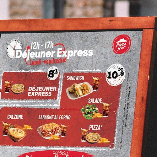 Conception et Impression affiche Déjeuner express