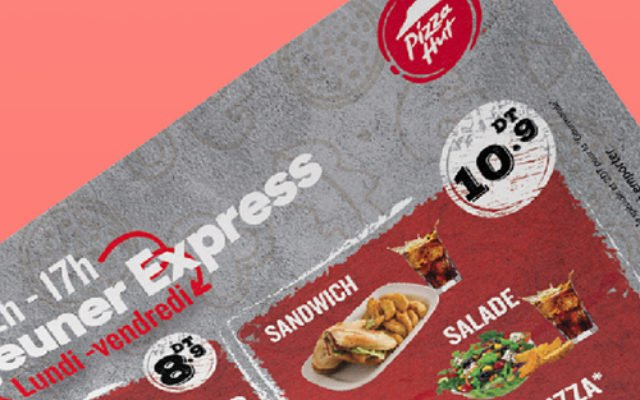 Conception Flyer Menu Déjeuner Express Pizza Hut