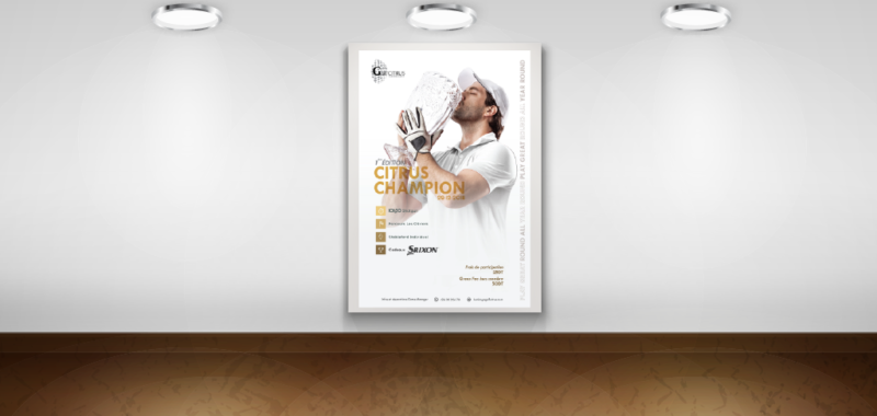 Conception Graphique Affiches Golf Citrus