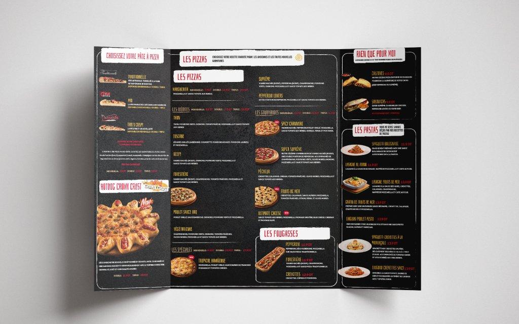 Conception Carte menu Pizza Hut