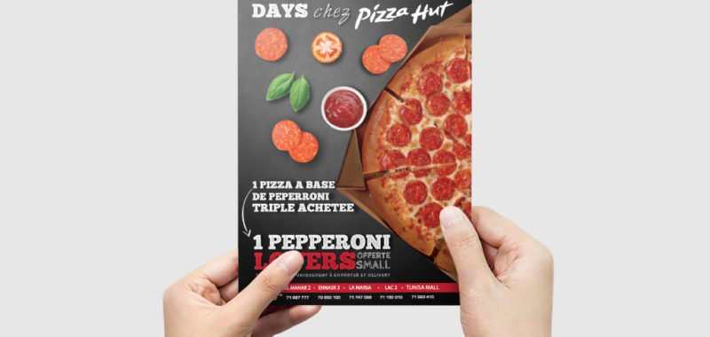Conception Flyer Pepperoni Days Pizza Hut