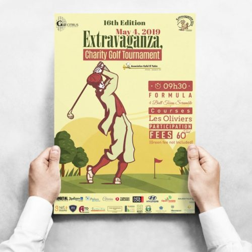 Conception Graphique Affiche Extravaganza Golf Citrus