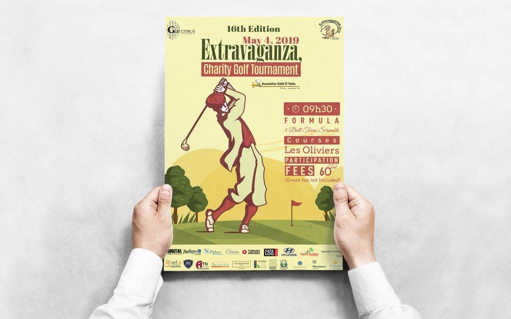 Conception Graphique Affiche Extravaganza Golf Citrus