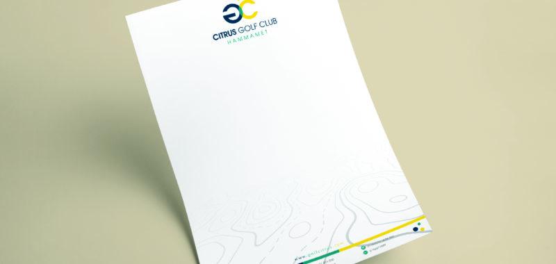 Conception Graphique Papier à en-tête Golf Citrus